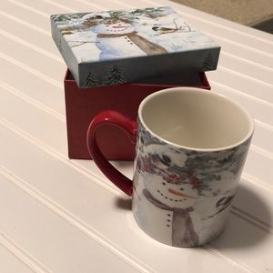 Other - NWT Jane Shasky Chickadee Snowman 14oz Ceramic Mug